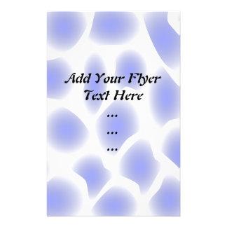 Modelo azul claro flyer personalizado