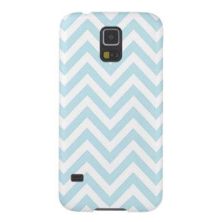 Modelo azul claro y blanco de la raya de Chevron Carcasa Galaxy S5