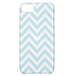 Modelo azul claro y blanco de la raya de Chevron Carcasa iPhone 5C