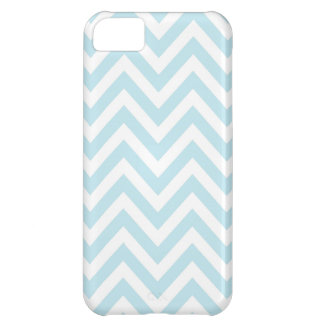 Modelo azul claro y blanco de la raya de Chevron Funda Para iPhone 5C