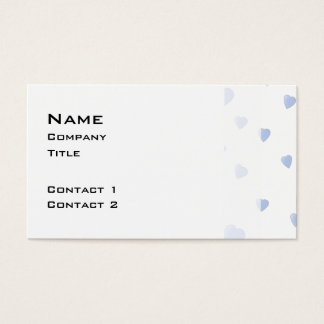 Modelo azul claro y blanco de los corazones del tarjeta de visita