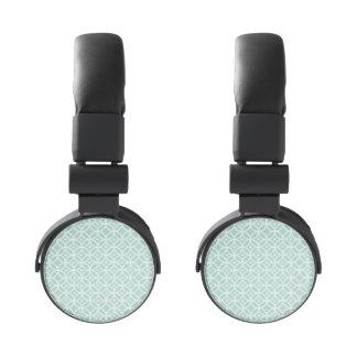 Modelo azul claro y blanco del círculo y de auriculares