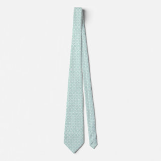 Modelo azul claro y blanco del círculo y de corbata