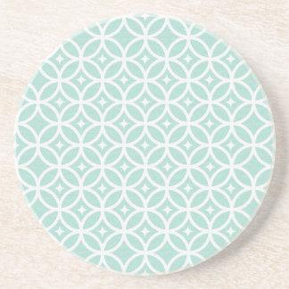 Modelo azul claro y blanco del círculo y de posavasos de arenisca