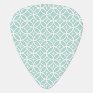 Modelo azul claro y blanco del círculo y de uñeta de guitarra