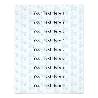 Modelo azul claro y blanco del cochecito de bebé invitación 10,8 x 13,9 cm