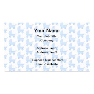 Modelo azul claro y blanco del cochecito de bebé tarjetas de visita