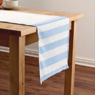 Modelo azul claro y blanco elegante moderno de las camino de mesa