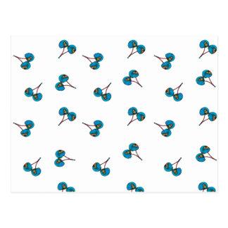 Modelo azul de la cereza postal