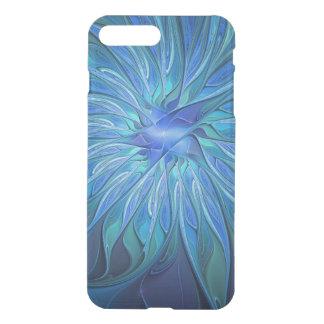 Modelo azul de la fantasía de la flor, arte funda para iPhone 7 plus