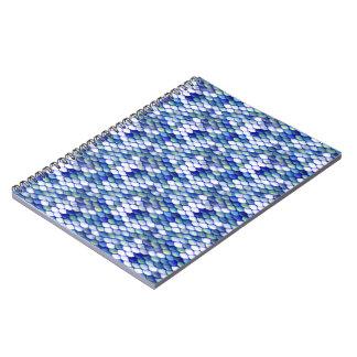 Modelo azul de la piel de la sirena cuaderno