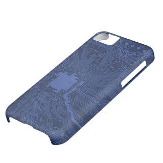 Modelo azul de la placa madre del friki funda para iPhone 5C