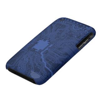 Modelo azul de la placa madre del friki iPhone 3 cárcasas