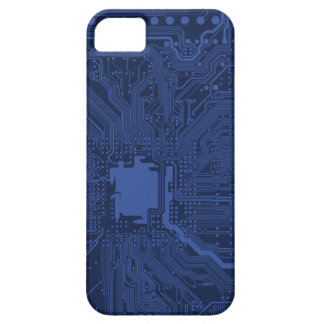 Modelo azul de la placa madre del friki iPhone 5 cárcasa