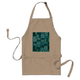 Modelo azul de la teja de mosaico del trullo de delantal