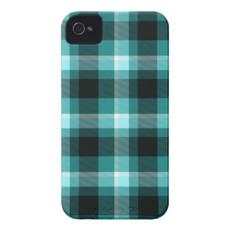 Modelo azul de la tela escocesa iPhone 4 Case-Mate cárcasa