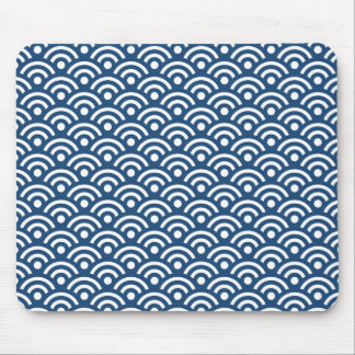 Modelo azul de medianoche Mousepad de Seigaiha