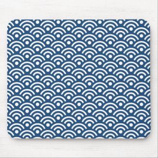 Modelo azul de medianoche Mousepad de Seigaiha Alfombrilla De Ratón