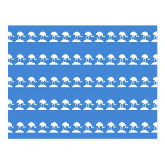Modelo azul de pájaros postales