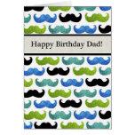 Modelo azul del bigote - papá del feliz cumpleaños felicitaciones