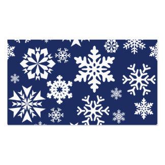Modelo azul del día de fiesta del navidad del invi tarjeta de visita