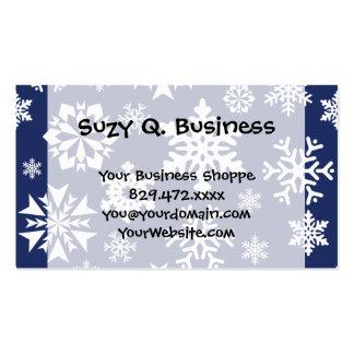 Modelo azul del día de fiesta del navidad del invi tarjetas de visita
