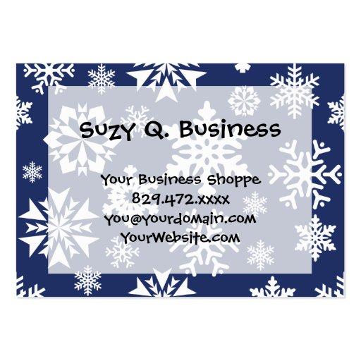 Modelo azul del día de fiesta del navidad del invi plantilla de tarjeta de negocio