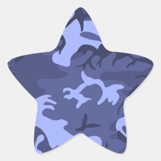 Modelo azul del diseño del camuflaje del ejército calcomanías forma de estrellas