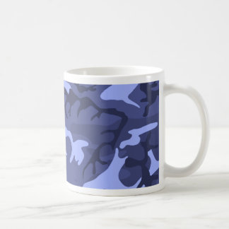 Modelo azul del diseño del camuflaje del ejército taza