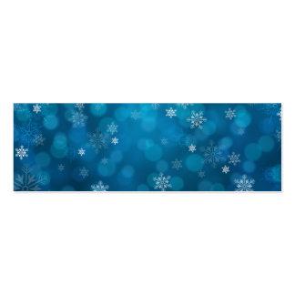 modelo azul del extracto de la nieve del grunge tarjetas de visita mini