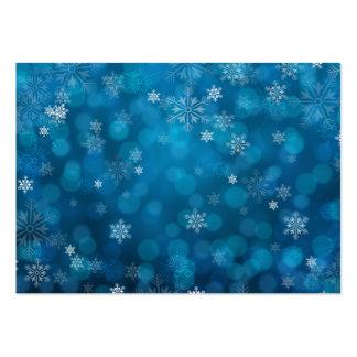 modelo azul del extracto de la nieve del grunge tarjetas de visita grandes