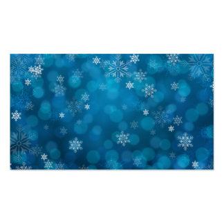 modelo azul del extracto de la nieve del grunge tarjetas de visita