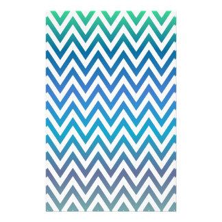 Modelo azul del galón folleto 14 x 21,6 cm