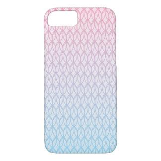 Modelo azul del óvalo de la pendiente de las rosas funda iPhone 7