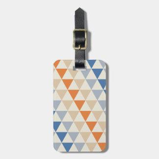 Modelo azul del triángulo del naranja que pone en etiquetas para maletas