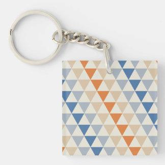 Modelo azul del triángulo del naranja que pone en llavero cuadrado acrílico a doble cara