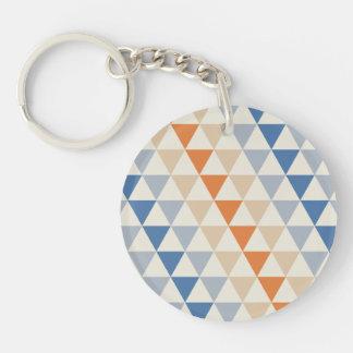 Modelo azul del triángulo del naranja que pone en llavero redondo acrílico a doble cara