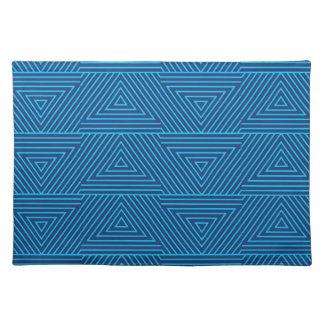 modelo azul del triángulo salvamanteles