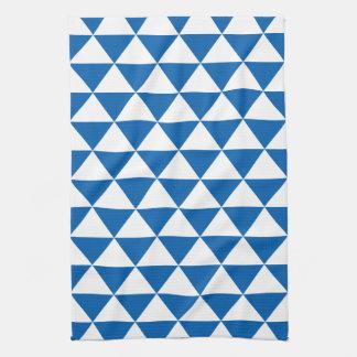 Modelo azul del triángulo toallas de mano
