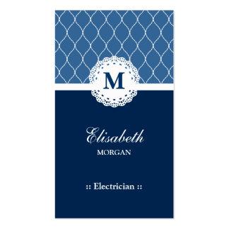 Modelo azul elegante del cordón del electricista tarjetas de visita