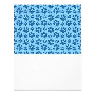 Modelo azul en colores pastel de la impresión de folleto 21,6 x 28 cm