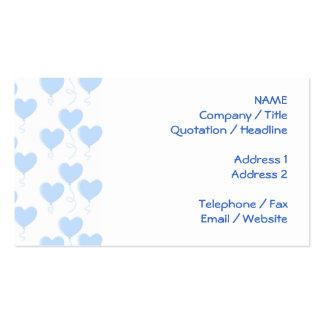 Modelo azul en colores pastel del globo del tarjetas de visita