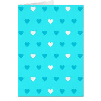 Modelo azul especial del corazón tarjeta de felicitación