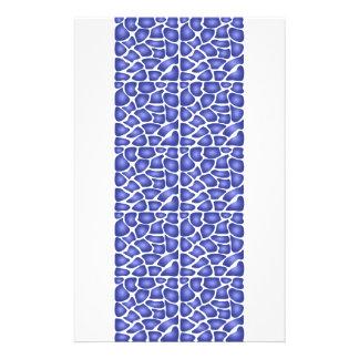 Modelo azul tarjeta publicitaria