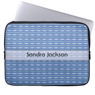 Modelo azul lindo personalizado funda para ordenador
