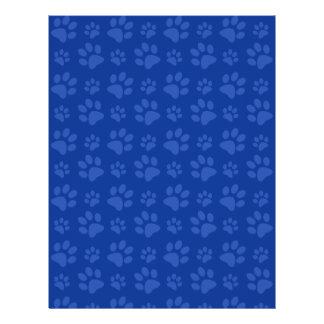 Modelo azul marino de la impresión de la pata del folleto 21,6 x 28 cm