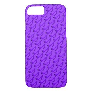 Modelo azul púrpura de la música de las notas funda iPhone 7