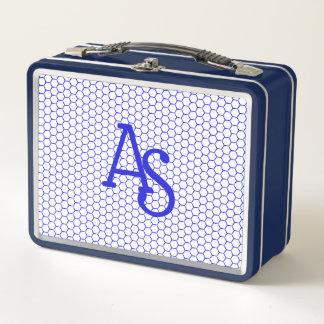 Modelo azul. Rejilla hexagonal. Monograma