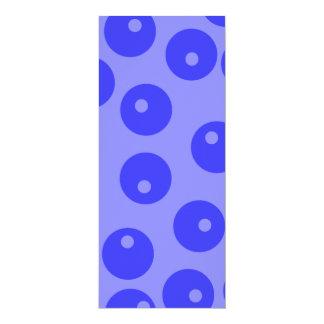 Modelo azul retro. Diseño de los círculos Invitación Personalizada