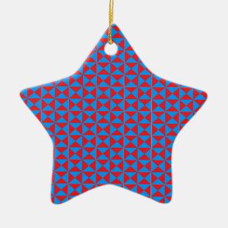 Modelo azul rojo del triángulo adorno